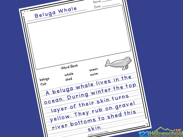 If you are learning about the ocean, mammals, whales, or simply have an interest in this huge animal, you will love this super cute Whale Printables filled with 30 pages of writing prompts