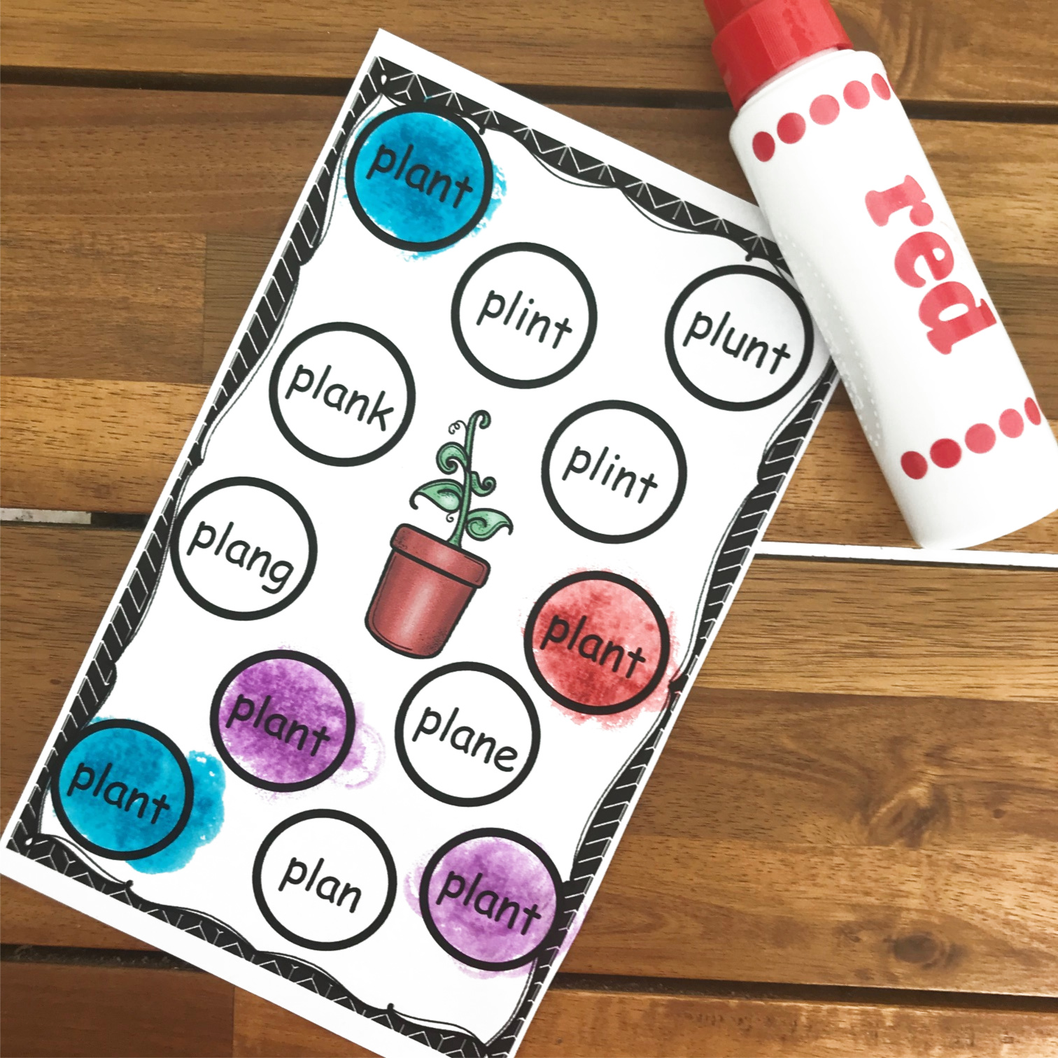 fun, free 1st grade printable activity for practicing Words with Ending Blends