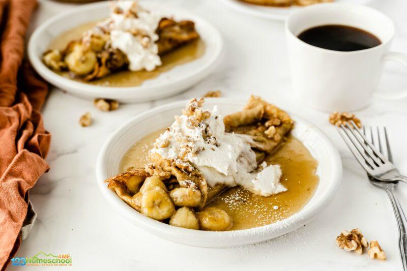 assemble the banana crepe recipes and enjoy!