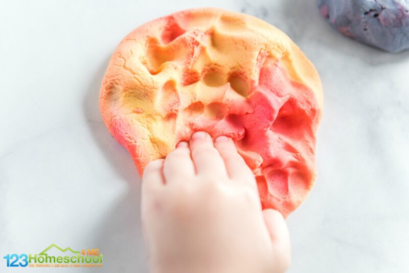 color changing playdough recipe