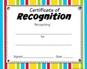 colorful free Printable Certificates