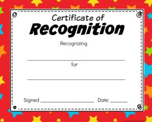 colorful star Blank Certificate