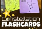 Kids will have fun learning about the formations the stars make in the night sky with these super cute, free printable, Constellation Flashcards. Plus, don't miss all the funstar activity ideas for using your cards. Perfect for solar system unit for kids in pre k, kindergarten, first grade, 2nd grade, 3rd grade, 4th grade, 5th grade, and 6th grade studying astronomy