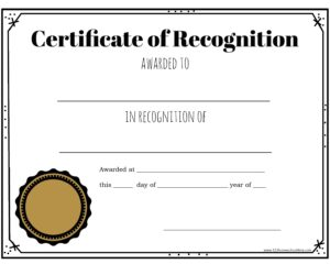 free Blank Certificate with seal