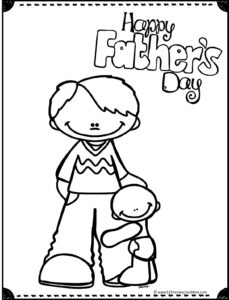Happy Mother's Day Coloring Page - Printable | 300x229