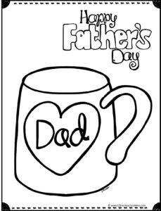 happy fathers day picture with mug featuring heart around the word dad