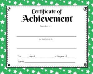 printable green certificate