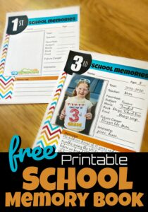 Capture the special moments and memories of your kids childhood as you fill in the pages of these free printable,School Memory Book sheets for every grade from preschool, pre k, kindergarten, first grade, 2nd grade, 3rd grade, 4th grade, 5th grade, 6th grade, 7th grade, 8th grade, 9th grade, 10th grade, 11th grade, and 12th grade students.