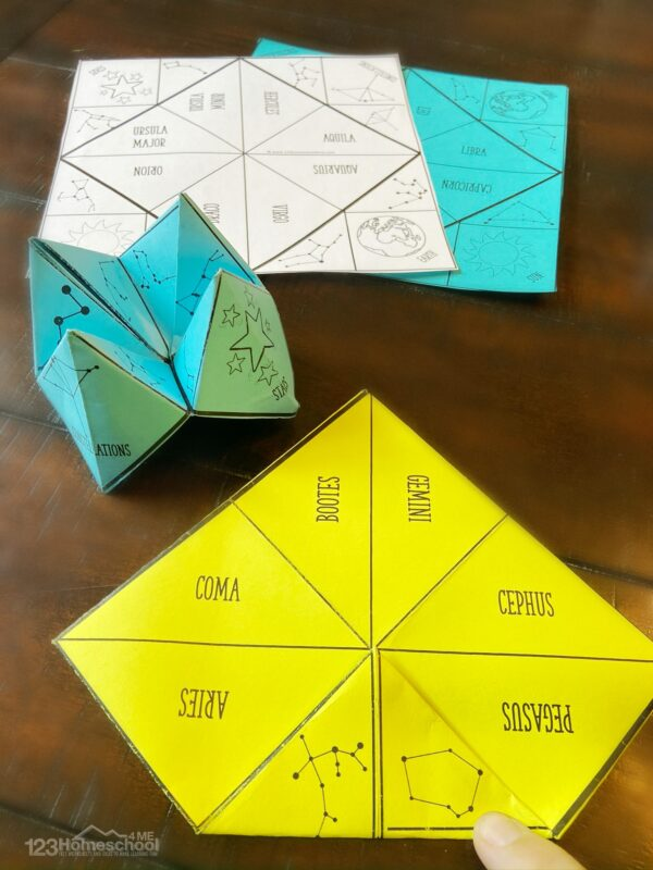 super cute and fun science cootie catchers for kids