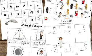 Celebrate Star Wars Day on May 4th with these super cute, printable Star Wars Worksheets from a galaxy far far away! These free worksheets are such a fun learning activity for kids from preschool, pre k, kindergarten, first grade, and 2nd grade students.
