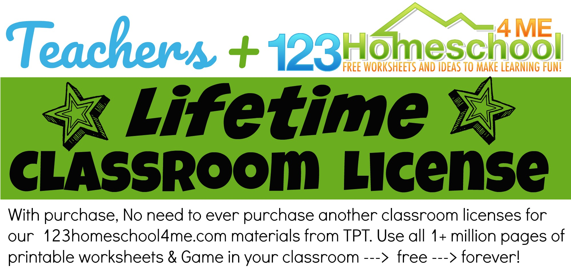 teachers lifetime classroom license