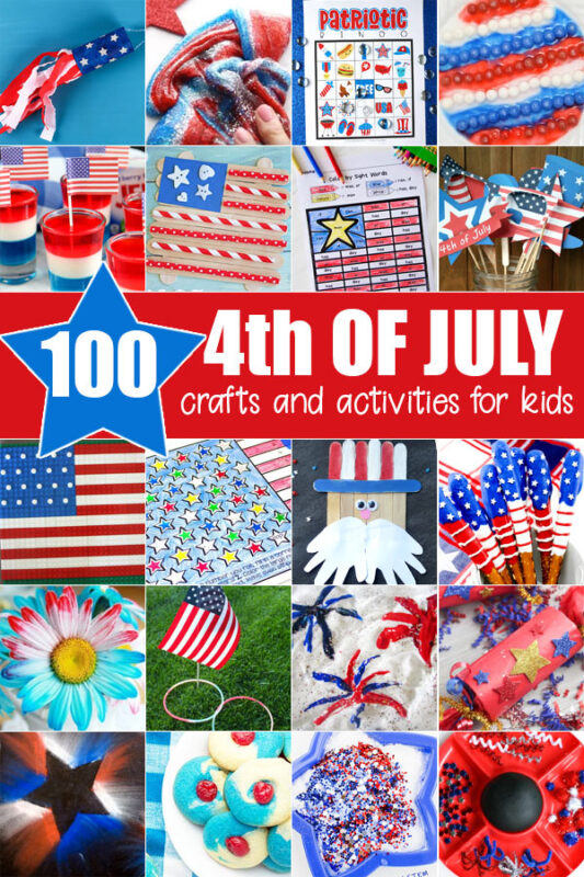 Let's celebrate Independence Day with these fun Fourth of July crafts and activities for kids of all ages! Over 100 EPIC patriotic activities for July 4th.