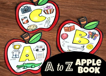 A to Z Alphabet Flip Book for teaching pre k and kindergarten phonics in september
