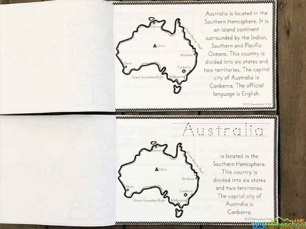 these Australia Worksheets for Kids are a great way to learn about another country with kindergarten, grade 1, grade 2, grade 3, grade 4, grade 5, and grade 6 students