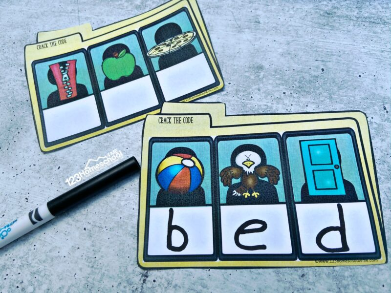 super cute CVC Words Activities with file for students to solve