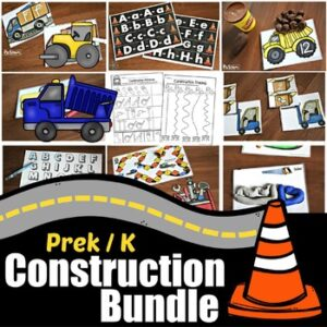HUGE Construction Bundle for preschoolers and kindergartners to make learning fun