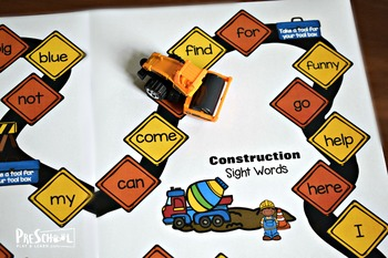Construction Sight Words Game