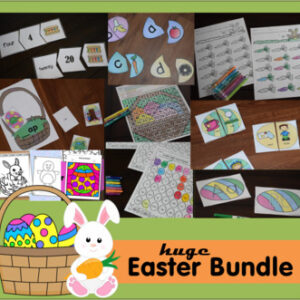 Easter Printables Bundle for Pre k, Kindergarten, and grade 1