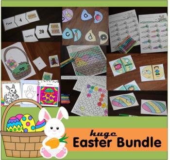 Easter Printables Bundle for Pre k, Kindergarten, and grade 1