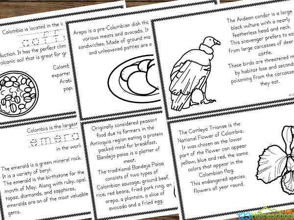 Lots of interesting Colombia Facts for Kids to learn about his country in South America