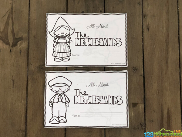 these Netherlands Printables are a fun way for kindergarten, first grade, 2nd grade, 3rd grade, 4th grade, 5th grade, and 6th grade students to learn about another country