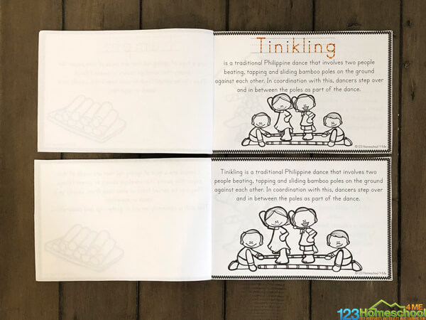 Philippines Worksheets you can make into a book to read, color, and learn about countries around the world