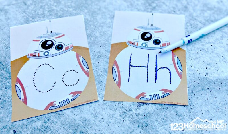 ABC Star Wars Printables for preschoolers and kindergartners
