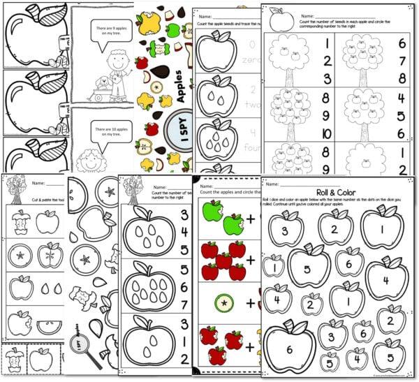 apple math for preschoolers