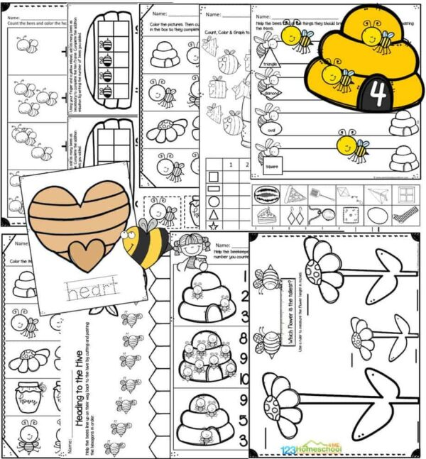 b is for bee worksheets for pre k