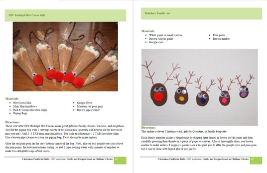Super cute reindeer ideas and Rudolph crafts from Christmas Crafts for Kids book by Beth Gorden
