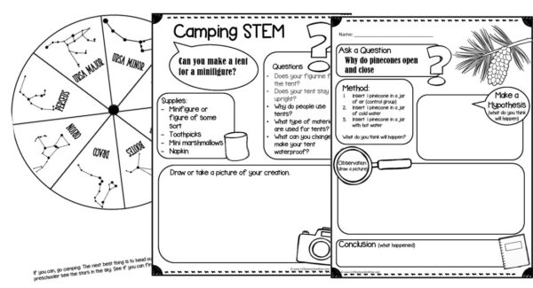 camping sciene experiment stem project and more for preschoolers