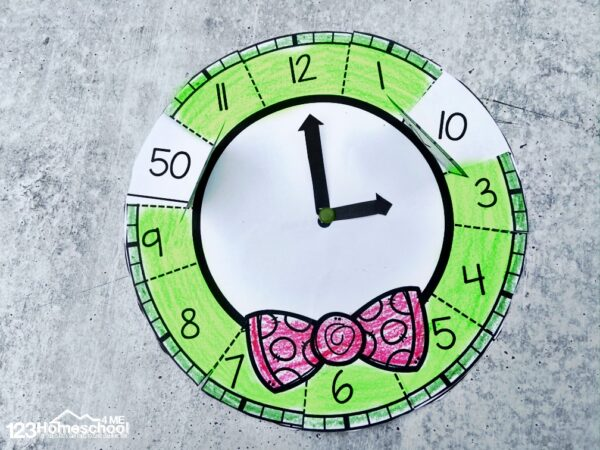 work on telling time with this fun clock math craft for christmas