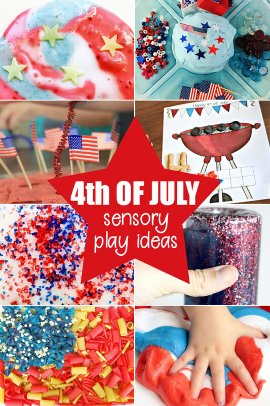 Fourth of July Sensory Play Activities