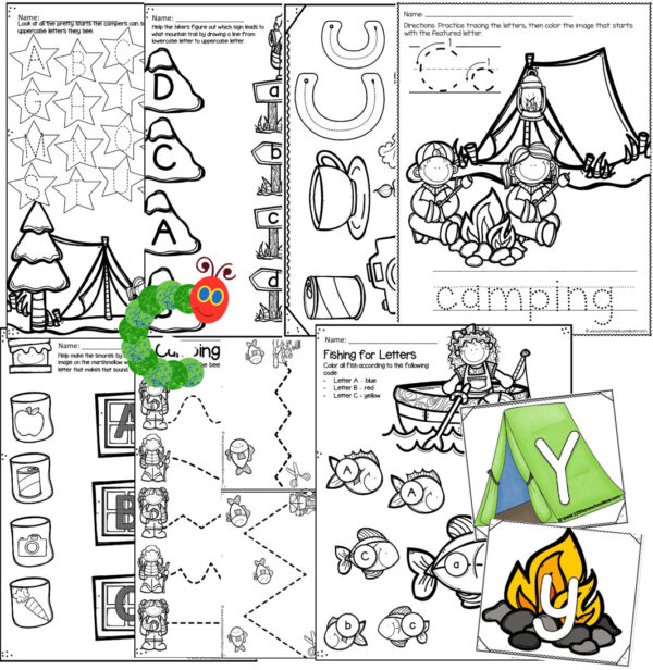 letter c worksheets including tracing letters, matching upper and lowercase letters, pre writing, and more