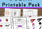 Huge pack of over 50 pages of Ocean Worksheets for Kids