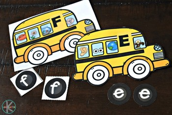 school bus phonemic awareness and letter matching