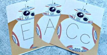 star wars themed Tracing Alphabet Letters