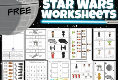 Celebrate Star Wars Day on May 4th with these super cute Star Wars Worksheets! This pack is loaded with over 50 pages ofstar wars printable activities to make learning fun for preschool, pre-k, kindergarten, first grade, and 2nd grade students. Whether you are learning your shapes, letters, counting, adding double digit numbers, or want to use the star wars I spy printable, you will love these star wars kindergarten worksheets. Simply download pdf file with star wars activity sheets and you are ready to play and learn with astar wars activity for kidsfrom a galaxy far, far away!