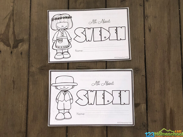 sweden worksheets you can turn into an emergent reader to learn about Sweeden