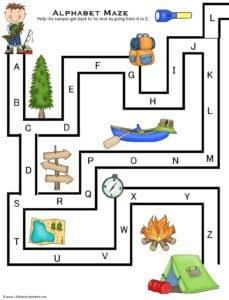Alphabet Maze Printable