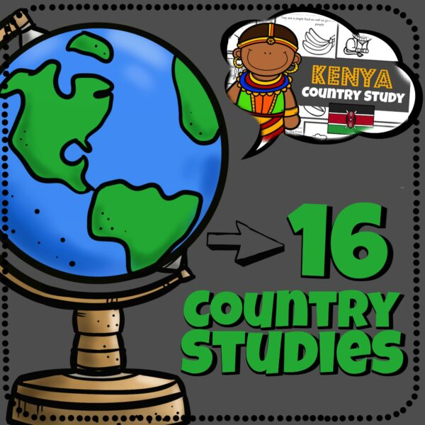 Help kids learn about countries around the world with 12 fun, printable country guides for pre k, kindergarten, first grade, 2nd grade, 3rd grade, 4th grade, 5th grade, and 6th grade students. Print, Color, and read as you learn about other countries and cultures
