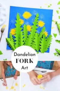 Dandelion Art Project for toddlers, preschoolers, pre k, kindergartners, and kids