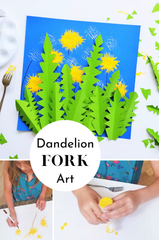 Dandelion Art Project for toddlers, preschoolers, pre k, kindergartners, and kids