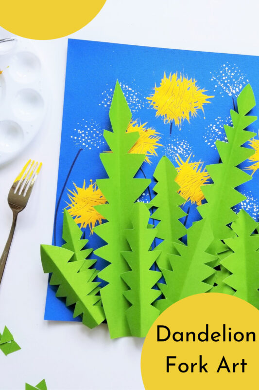 Nothing says summer like dandelions! Kids of all ages will have fun recreating this flower with a clever, fun, and creative Dandelion Art Project.  This flower craft for kids is such a fun craft for toddler, preschool, pre k, kindergarten, and first grade.
