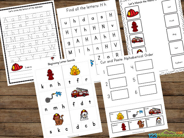 Firefighter Theme Printables