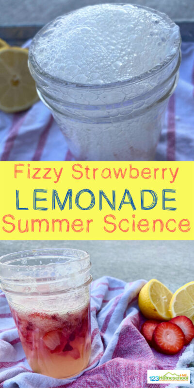 Science in general is fascinating, but to my daughter it's even more captivating when it's pink, sparkly, fizzy or edible. This Fizzy Lemonade Science Experiment is all of the above. It is the perfect summer science experiment for inside or outside. It has simple ingredients and makes a delicious treat, too! So try some this easy science experiment for toddler, preschool, pre k, kindergarten, first grade, 2nd grade, and 3rd grade students.