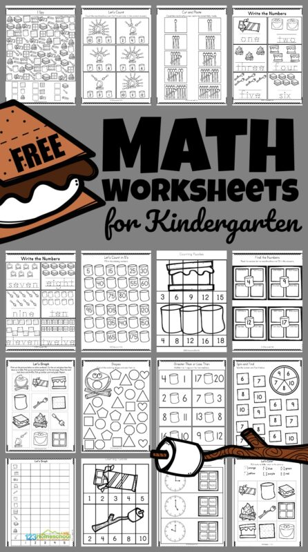 This SMores themed summer math activity is filled withsummer worksheets for kindergarten, preschool, pre-k, and first graders. The super cute clipart in these camping worksheets keep kids engaged and having fun learning. Thesesummer worksheets are a great way for children to practice and improve their knowledge of the numbers and simple math equations. Simply printsummer math worksheets and you are ready to play and learn!