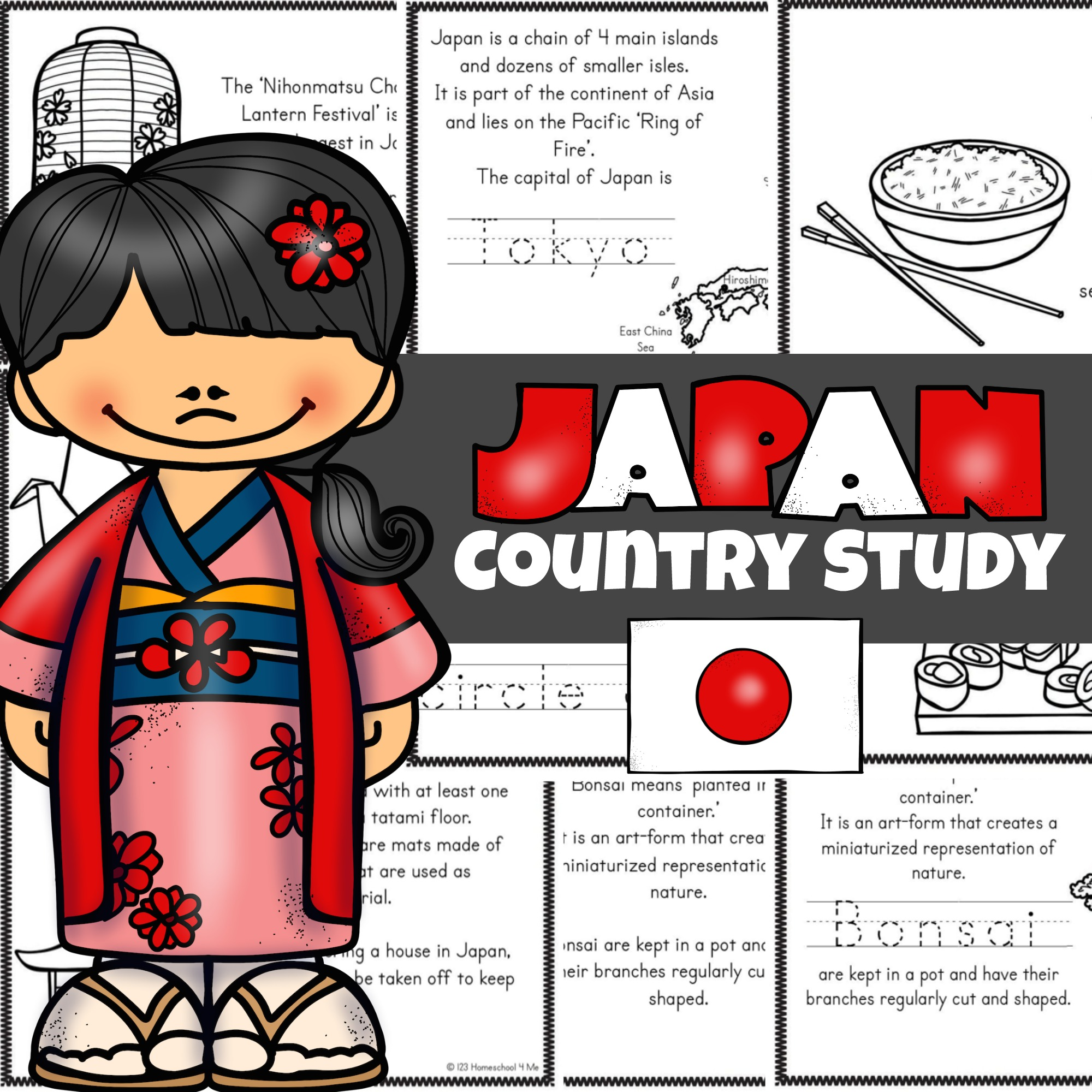 Free Japan For Kids Printable Book
