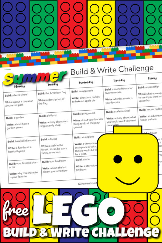 It can be challenging to help kids to continue working on their writing skills during the summertime. But these super cutelego printables are filled with not only summer writing prompts, butkids lego challengeideas to build and write. These lego writing activitiesare perfect for kindergarten, first grade, 2nd grade, 3rd grade, 4th grade, 5th grade, and 6th graders too. Simply download pdf file withlego writing prompts for a funsummer activity for kids
