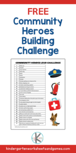 community helper Lego Challenge